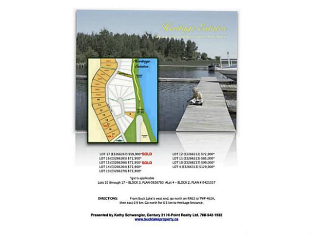 Lot 16, Phase Ii, Heritage Estates, Buck Lake, Ab Es, Rural Wetaskiwin County, Alberta  T0C 0T0 - Photo 12 - E3266265